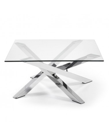 C369C07 - MIKADO coffee table 90x90 chromed glass clear