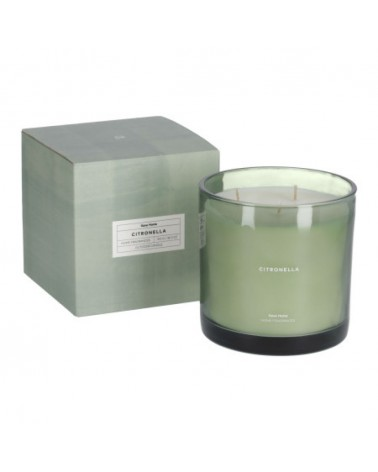 AA8029C19 - Citronella scented candle in green 750 g