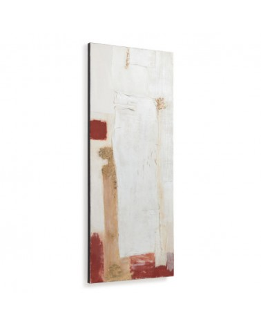 AB0122 - Winona canvas in white, red and gold 50 x 120 cm