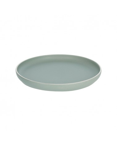 AA7028K19 - Shun flat plate in green porcelain
