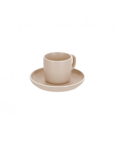 AA7030K12 - Shun coffee cup and saucer in beige porcelain