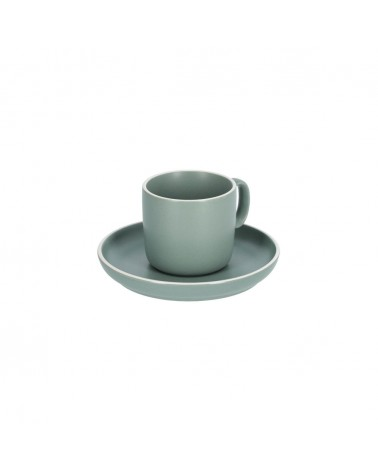 AA7030K19 - Shun coffee cup and saucer in green porcelain