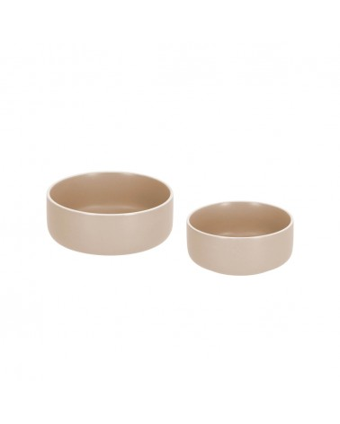AA7911K12 - Set of large and small Shun bowls in beige porcelain