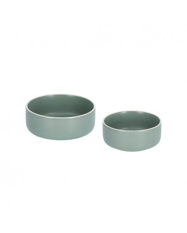 AA7911K19 - Set of large and small Shun bowls in green porcelain
