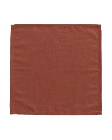 AA6734SN04 - SAMAY Maroon Samay 4-napkin set