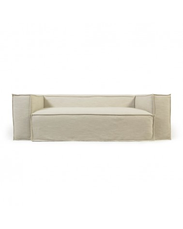 S570SN39 - Blok 3-seater sofa with removable covers in white